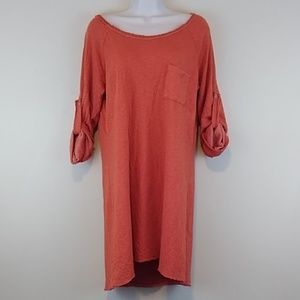 Altar'd State Roll Tab Long Sleeve Tunic